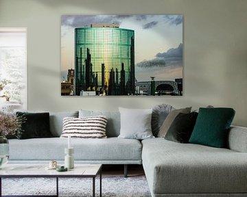 Spreeuwen in Rotterdam von Michel van Kooten