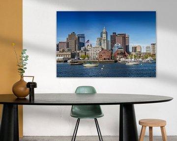 BOSTON Skyline North End & Financial District van Melanie Viola