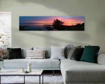 Zonsondergang vanaf Pampus van Yannick uit den Boogaard