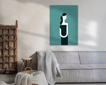 Ein Kleid und ein Lächeln (türkis) von Rene Hamann