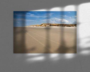 Strand-Szene mit Sanddünen im Hintergrund von Jan Brons