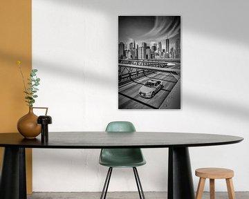 Urbane Impression von der Brooklyn Bridge von Melanie Viola