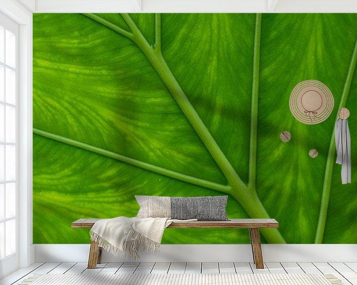 Sfeerimpressie behang: Leaf van Greetje van Son
