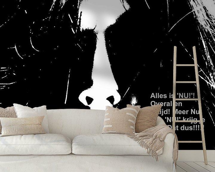 Sfeerimpressie behang: Dolende Dertigers: Alles Is Nu! Overal En Altijd! van MoArt (Maurice Heuts)