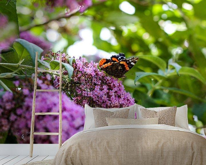 Impression: Vlinder op paarse bloem sur Erik Koks