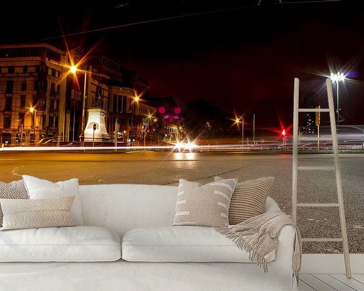 Sfeerimpressie behang: verlichting bij nacht van Erik Koks