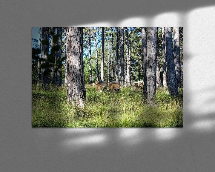 Sfeerimpressie: imker in het bos van Erik Koks