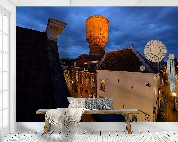 Sfeerimpressie behang: Watertoren Lauwerhof in Utrecht van Donker Utrecht