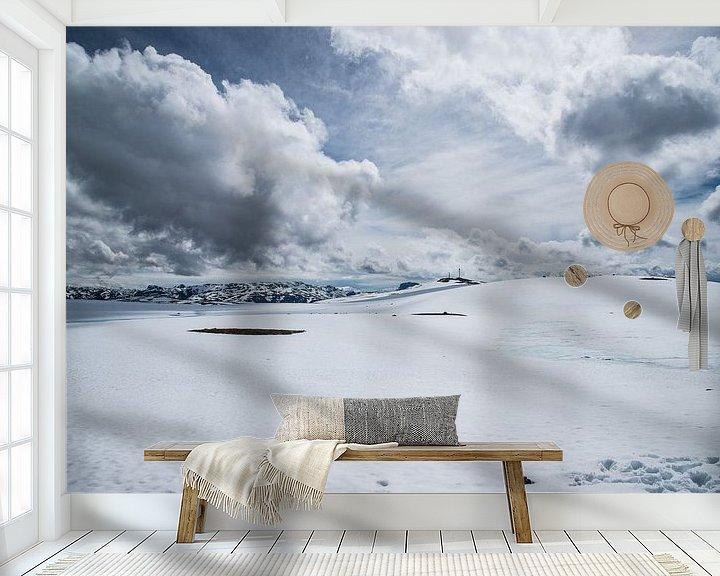 Sfeerimpressie behang: Sereniteit van Sander Strijdhorst