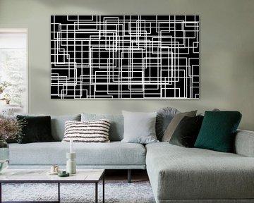 Labyrint in zwart-wit von Gera Wijlens