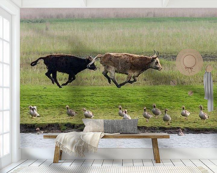 Sfeerimpressie behang: Heckrund van Michiel Leegerstee
