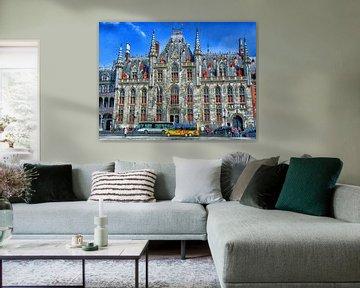 Historische stadhuis van Brugge Belgie