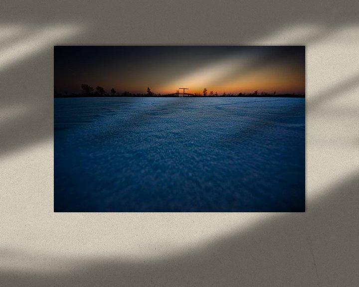 Impression: bevroren Nieuwkoopse plassen bij zonsondergang sur Thomas Spaans
