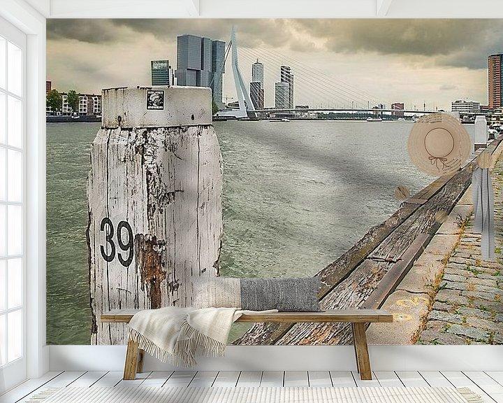 Sfeerimpressie behang: Boompjes  Rotterdam van Jerome Coppo