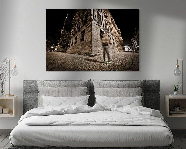 Sfeerimpressie: paleis op de dam bij nacht van Thomas Spaans