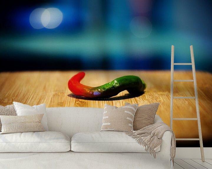 Sfeerimpressie behang: cayenne peper van Thomas Spaans