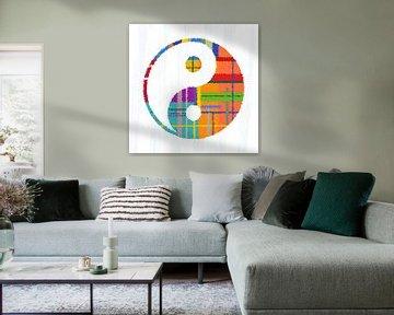 Yin en yang, kleurrijke
