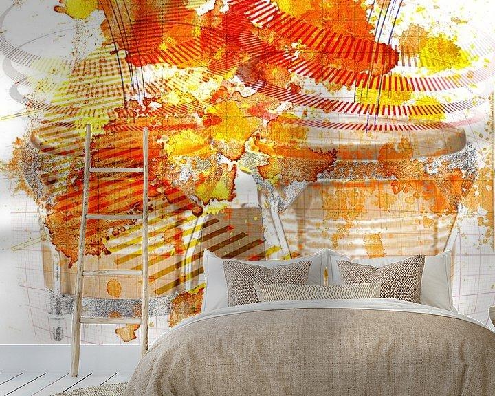 Sfeerimpressie behang: Bongo van Peter Baak