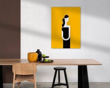 Ein Kleid und ein Lächeln (gelb) von Rene Hamann