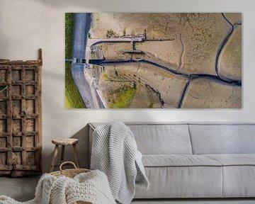 Haven van Sil Texel van boven van Texel360Fotografie Richard Heerschap