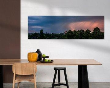 Panorama bliksem van Vincent van den Hurk
