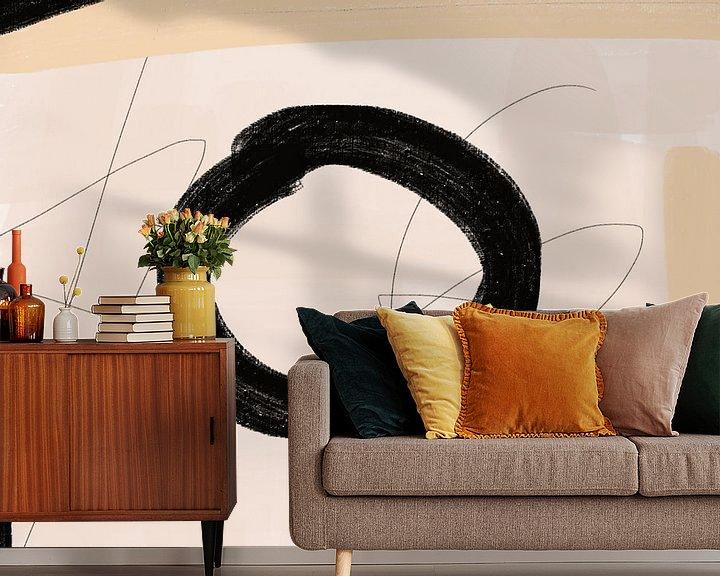 Sfeerimpressie behang: Cirkel van Go van Kampen
