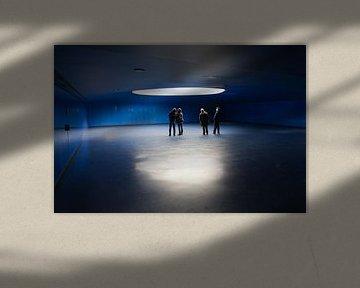 Blauwe ruimte van Jim van Iterson