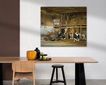 Kühe im Stall - Jan van Ravenswaay