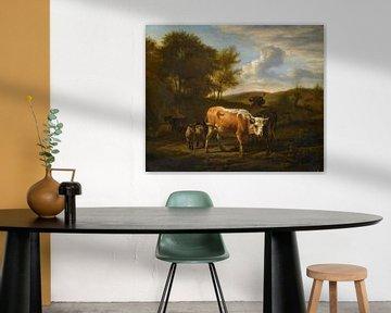 Hügellandschaft mit Vieh, Adriaen van de Velde