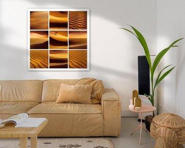 Saharazandcollage von Rob van der Pijll