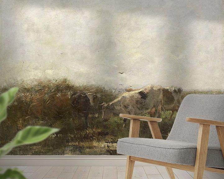 Sfeerimpressie behang: Koeien, Willem Maris