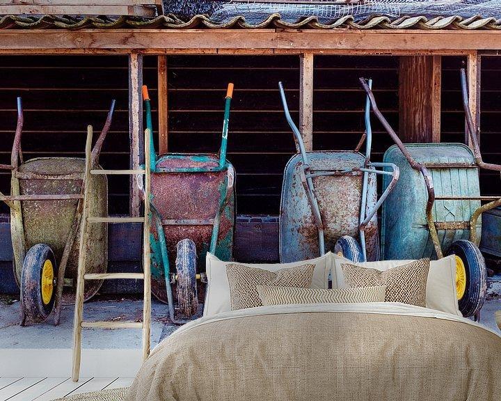 Sfeerimpressie behang: Vier op een rij van jan van de ven