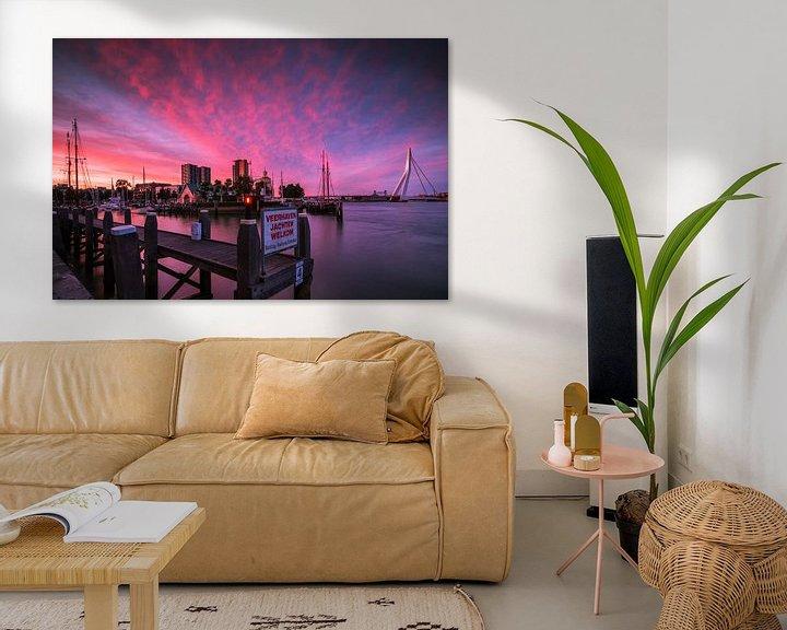 Sfeerimpressie: Veerhaven Rotterdam bij zonsondergang van Ilya Korzelius