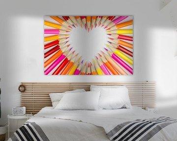 Houten gekleurde potloden als achtergrond foto  von Tonko Oosterink