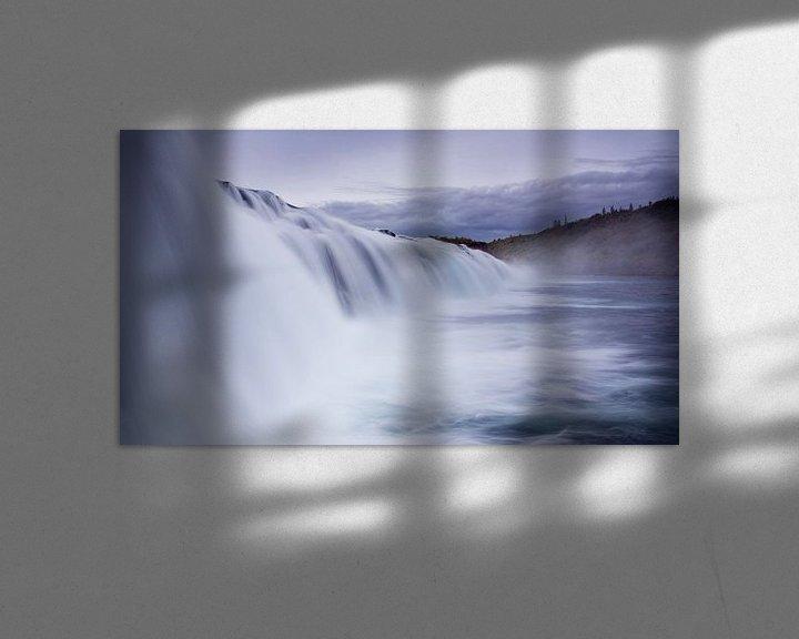 Sfeerimpressie: Faxifoss IJsland van Miranda Bos