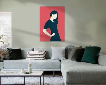 A woman in pose van Rene Hamann