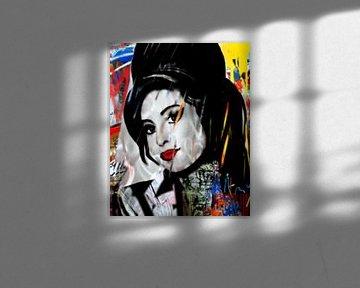Amy Winehouse Pop Art PUR von Felix von Altersheim