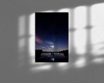 nieuwkoopse plassen bij nacht van Thomas Spaans