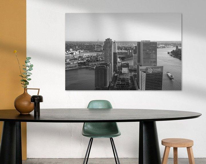 Sfeerimpressie: Het uitzicht op de Wilhelminapier in Rotterdam van MS Fotografie | Marc van der Stelt