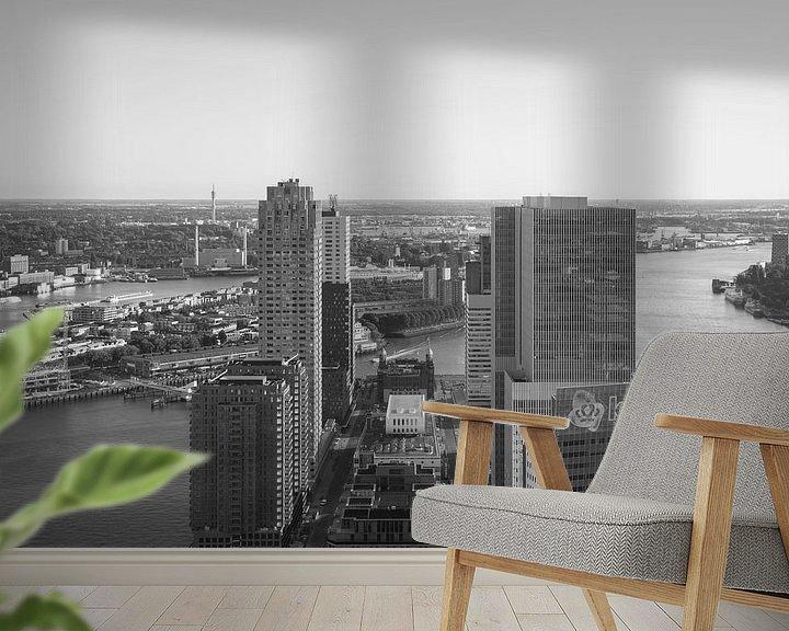 Sfeerimpressie behang: Het uitzicht op de Wilhelminapier in Rotterdam van MS Fotografie | Marc van der Stelt