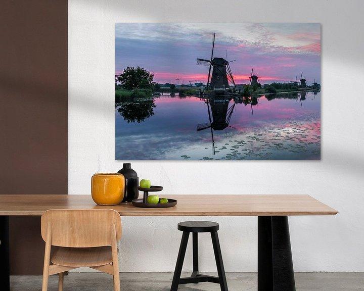 Sfeerimpressie: Zonsondergang Kinderdijk van Mark den Boer