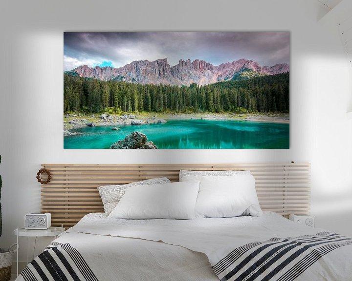 Sfeerimpressie: Lago di carezza, Dolomieten, Italië van Jens De Weerdt