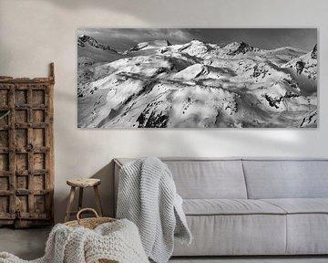 Französisch Alpen #1 black&white von Mart Stevens