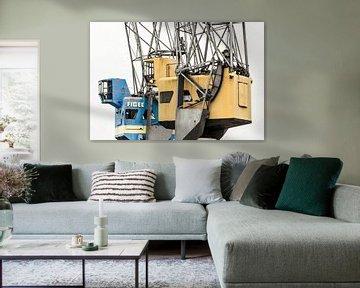 Hijskranen in de Rotterdamse haven sur Dirk Jan Kralt