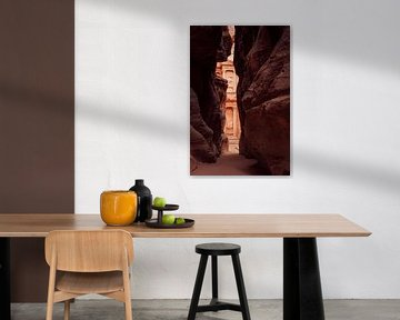 Felsenblick in Petra, Jordanien von Laura Vink
