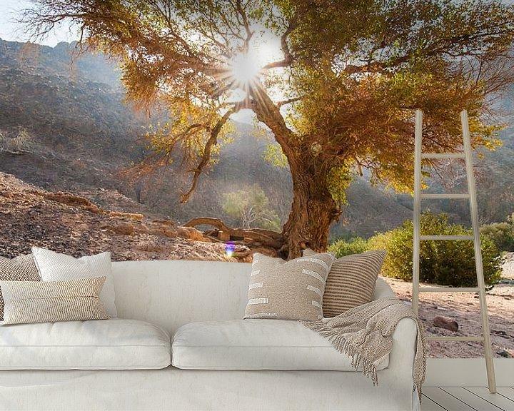 Sfeerimpressie behang: Dana National Parc - Jordanie van Laura Vink