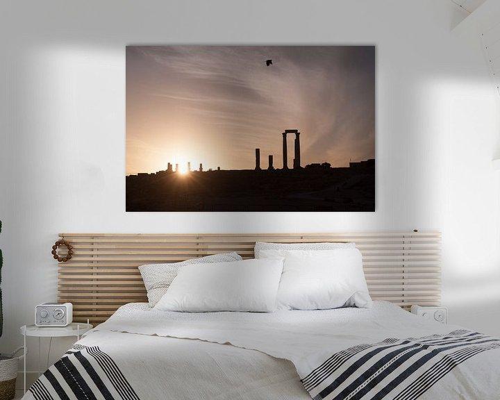 Sfeerimpressie: Silhouet Citadel Amman - Jordanie van Laura Vink
