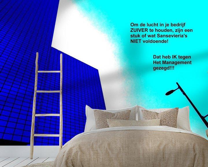 Sfeerimpressie behang: Small Talk: De Lucht Zuiver Houden! van MoArt (Maurice Heuts)