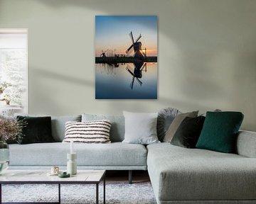 De molen en de reflectie  van AnyTiff (Tiffany Peters)