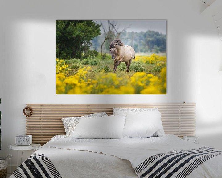 Sfeerimpressie: galopperend paard van Pim Leijen